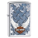 Zippo Lighter - Harley Davidson Diamondplate HP Chrome - 852188