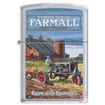 Zippo Lighter - Farm With Farmall Satin Chrome 852192
