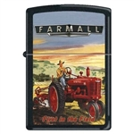Zippo Lighter - Farmall First In The Field Black Matte 852196