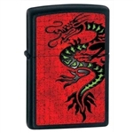 Zippo Lighter - Dragon Black Matte - 852231
