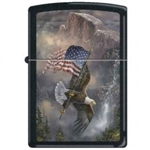 "Zippo Lighter - Blaylock ""Old Glory at Half Dome"" Black Matte - 852242"