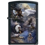 Zippo Lighter - Blaylock Spirit of the West Black Matte - 852264