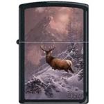 Zippo Lighter - Blaylock The Lone Bull Elk Black Matte - 852265
