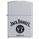 Zippo Lighter - Jack Daniel's Old No 7 Satin Chrome - 852537