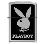 Zippo Lighter - Playboy Black High Polish Chrome - 852600