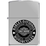 Zippo Lighter - Harley Davidson Knucklehead Brushed Chrome - 852603