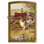 Zippo Lighter - Farmall With Boy and Dog Toffee - 852617
