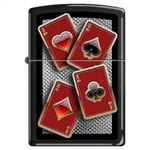 Zippo Lighter - Well Suited Black Ice- 852705