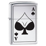 Zippo Lighter - Ace of Spades Bodacious HP Chrome - 852851
