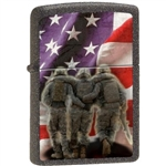 Zippo Lighter - 3 Soldiers No One Get Left Behind - 853225