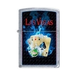 Zippo Lighter - Vegas 4 Aces Street Chrome - 853229