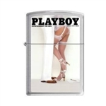 Zippo Lighter - Playboy Cover August 1978 Brushed Chrome - 853261