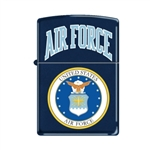 Zippo Lighter - US Air Force Logo Navy Matte - 853268