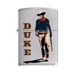 Zippo Lighter - John Wayne Walking Tall Brushed Chrome - 853282