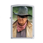 Zippo Lighter - John Wayne Rooster Cogburn Satin Chrome - 853283