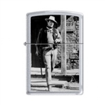 Zippo Lighter - John Wayne Rio Bravo Satin Chrome - 853286