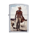 Zippo Lighter - John Wayne Hondo Satin Chrome - 853287