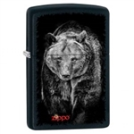 Zippo Lighter - Bear Black Matte - 853407