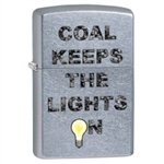 Zippo Lighter - Coal Keeps The Lights On Street Chrome - 853412