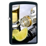 Zippo Lighter - Twist of Lime Black Matte - 853413