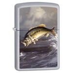 Zippo Lighter - Bass by Blaylock Satin Chrome - 853418