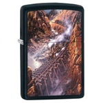 Zippo Lighter - Black Canyon Express Black Matte - 853419
