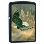 Zippo Lighter - Bryce Canyon Eagle Black Matte - 853422