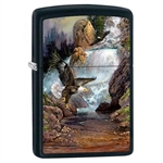 Zippo Lighter - Cascade Eagle by Blaylock Black Matte - 853425