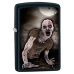 Zippo Lighter - Zombie & Moon Black Matte - 853431