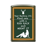 Zippo Lighter - Hunting 101 Green Matte - 853685