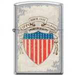 Zippo Lighter - Stars and Stripes Shield Street Chrome - 853746