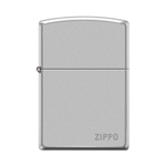 Zippo Pipe Lighter Logo Satin Chrome - 853800