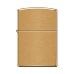 Zippo Pipe Lighter Logo Brushed Brass - 853801
