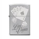 Zippo Lighter - Las Vegas Aces High Polish Chrome - 853912