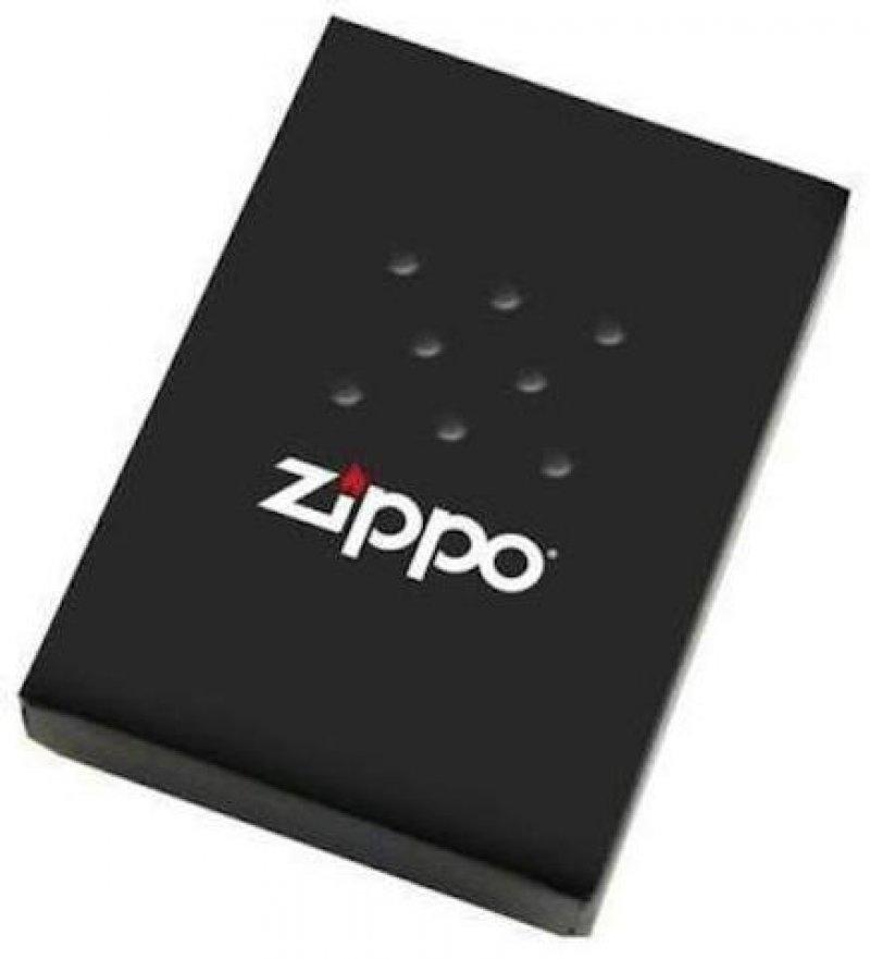 Zippo Lighter Skull With Flag Black Matte 853922