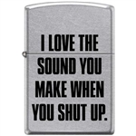 Zippo Lighter - I Love The Sound You Make Street Chrome - 853925