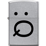 Zippo Lighter - Smoker's Face Street Chrome - 853926