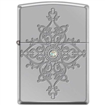 Zippo Lighter - Deep Carved Armor High Polished Chrome - 853927