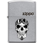 Zippo Lighter - Biker Skull With Logo Street Chrome - 853940