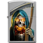 Zippo Lighter - Grim Reaper Brushed Chrome - 853944
