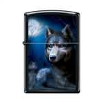 Zippo Lighter - Pack of Wolves Black Matte - 854025