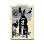 Zippo Lighter - Indian Portrait Creme Matte - 854028