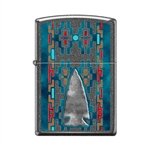 Zippo Lighter - Indian Pattern Arrow Head Ironstone - 854029