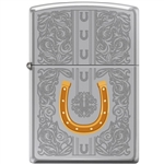 Zippo Lighter - Dazzling Horseshoe High Polish Chrome - 854035