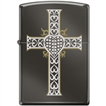 Zippo Lighter - Jewelry Heart & Cross Black Ice - 854038