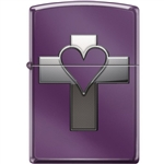 Zippo Lighter - Heart & Cross Abyss - 854039