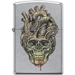 Zippo Lighter - Tattoo Skull Heart Street Chrome - 854043