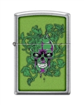 Zippo Lighter - Hidden/Laughing Skull Meadow - 854045