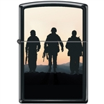 Zippo Lighter - Soldiers at Sunset Black Matte - 854048