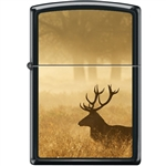 Zippo Lighter - Deer in Mist Black Matte - 854051